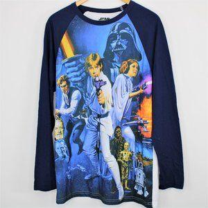Star Wars All Over Print LS Raglan Shirt Men Large